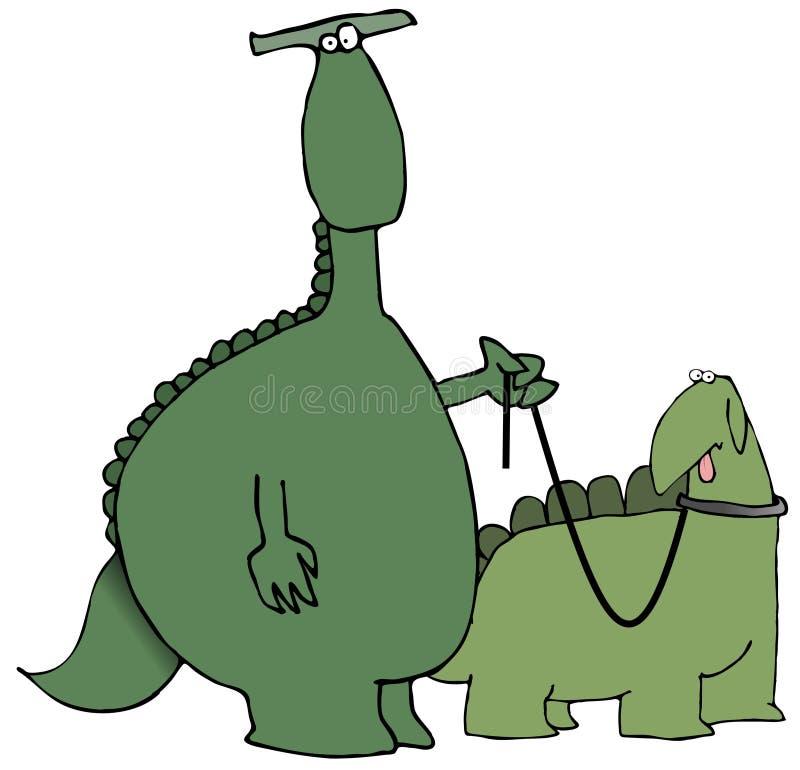 恐龙走 皇族释放例证