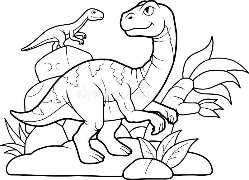 恐龙遇见了一个朋友 库存照片
