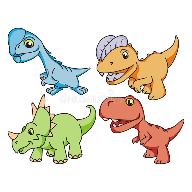 不同的在集合汇集的恐龙黑象的设计 史前动物传染媒介图片
