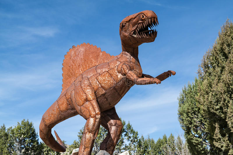 恐龙雕塑 免版税库存图片