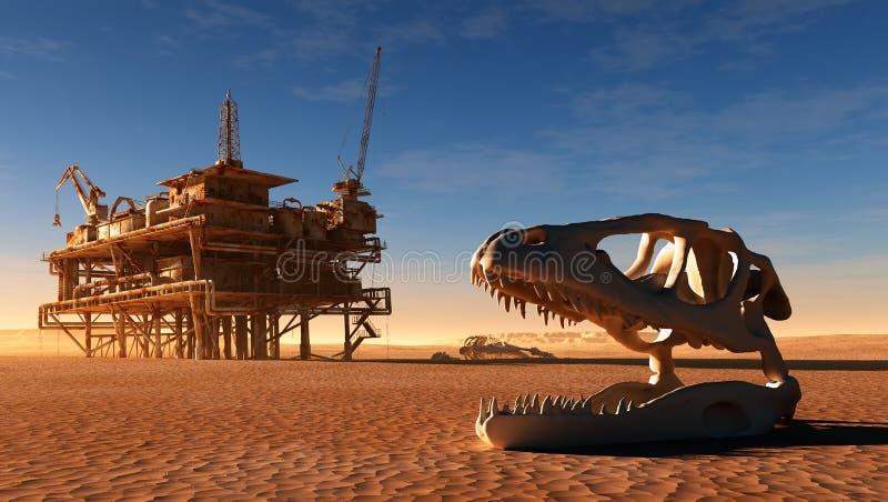 恐龙骨骼 向量例证