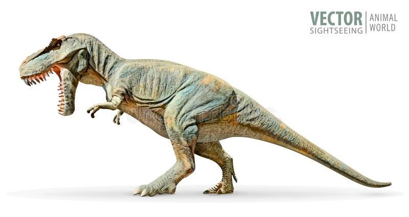 恐龙暴龙雷克斯 史前爬行动物 古老掠食性动物 动物侏罗纪与大牙 积极的野兽 向量例证