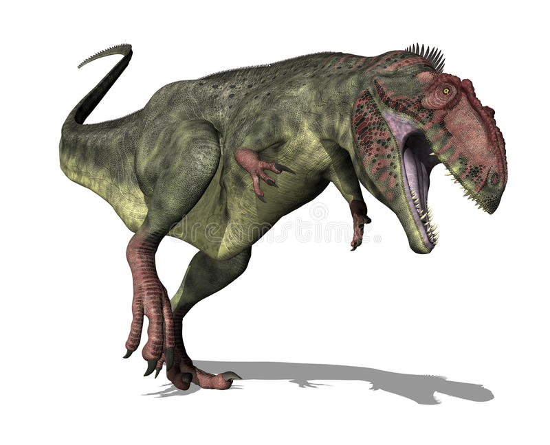 恐龙giganotosaurus 向量例证