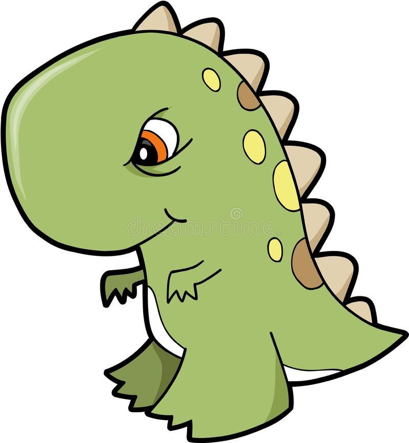 恐龙rex t向量 库存例证
