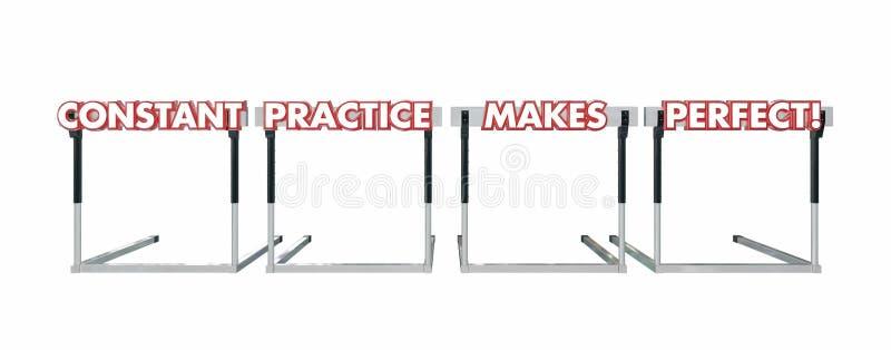 恒定的实践做完善跳过障碍 库存例证