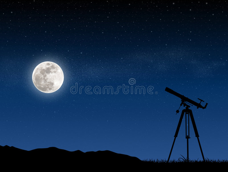恒星天空 向量例证