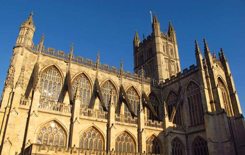 巴恩在蓝天下的修道院巴恩英国 图库摄影