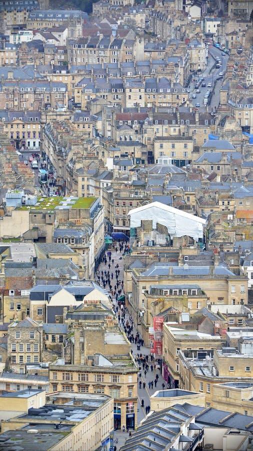 巴恩城市在萨默塞特英国 免版税库存照片