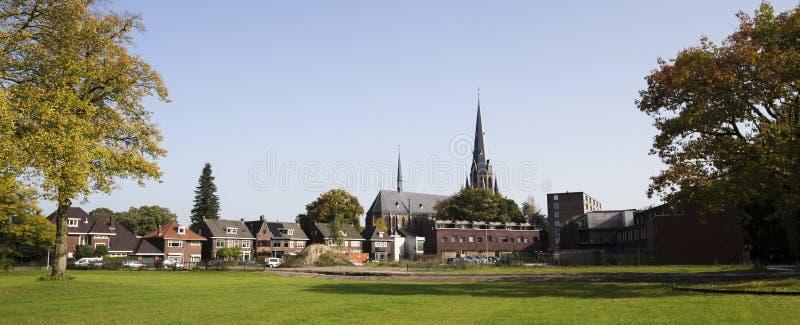 恩斯赫德市在荷兰 免版税库存照片
