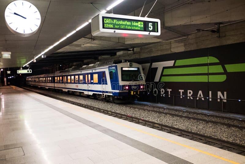 维恩米特区火车站 免版税库存图片
