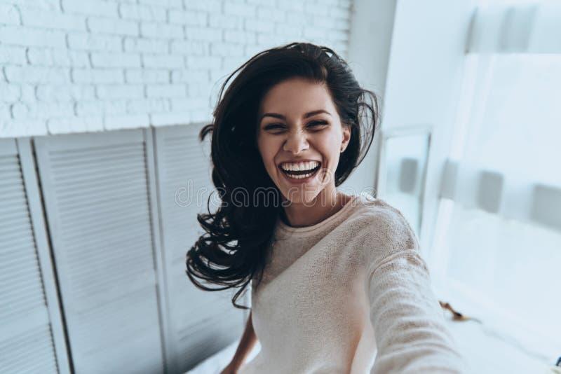 恳切的微笑 免版税库存图片