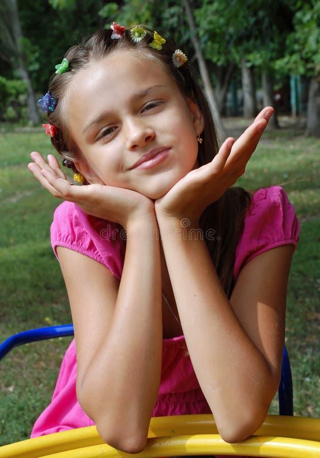 恶作剧的女孩 图库摄影