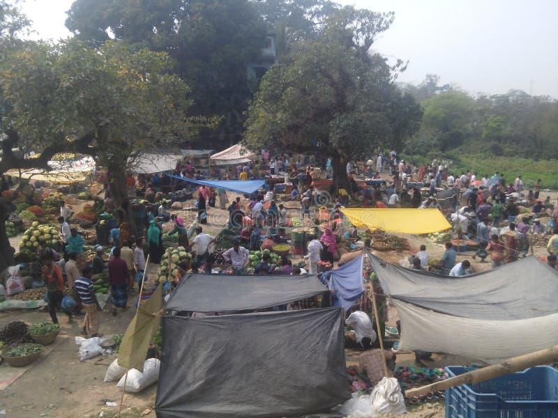 恶劣的村庄在孟加拉国 库存照片