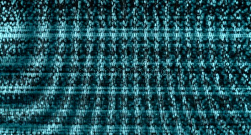 恶劣的电视频道信号 库存图片