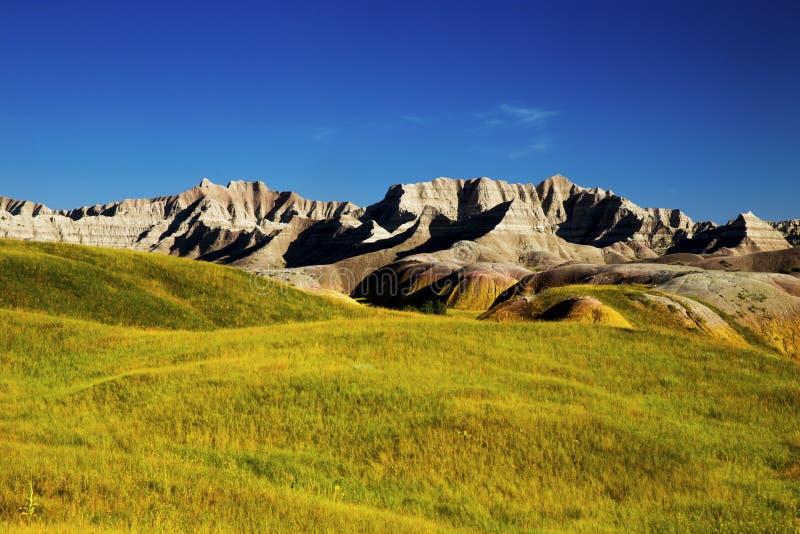 恶地国家公园南达科他的腐蚀的纹理 免版税图库摄影