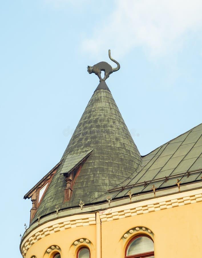 恶意嘘声之家,里加,拉脱维亚 库存图片