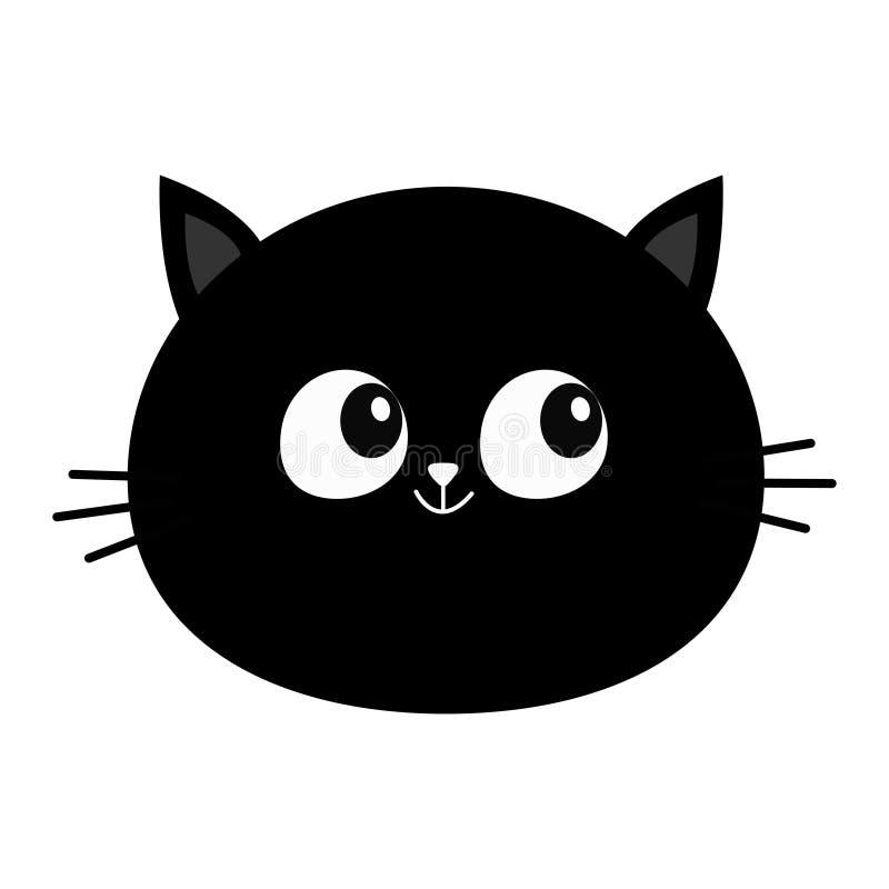 恶意嘘声头圆的面孔象 逗人喜爱的漫画人物 全部赌注颊须小宠物汇集 滑稽的小猫 奶油被装载的饼干 孤立 库存例证