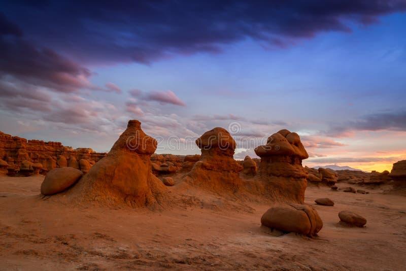 恶鬼谷国家公园在犹他 免版税库存图片