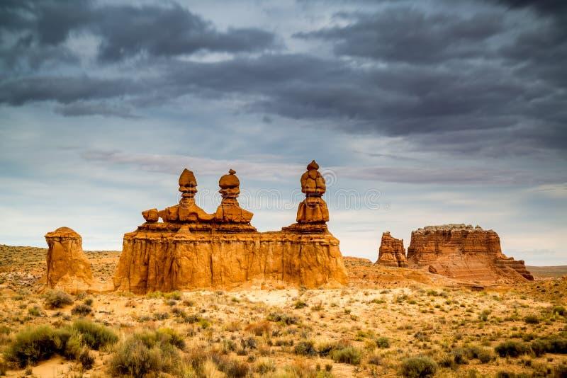 恶鬼谷国家公园在犹他 免版税库存照片