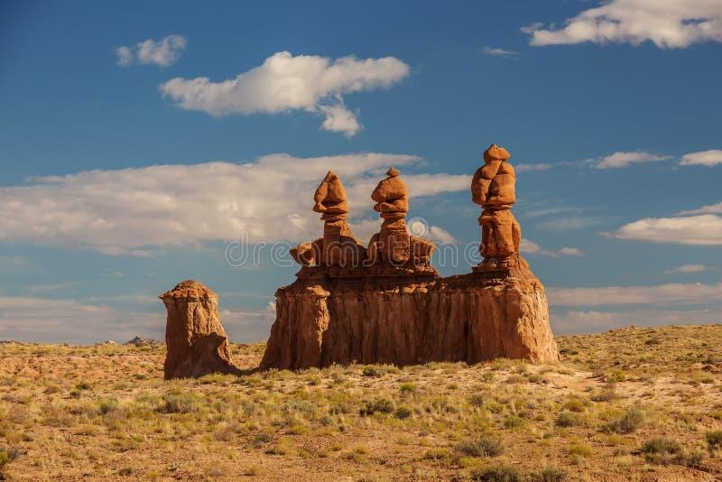 恶鬼谷国家公园壮观的风景在犹他,美国 库存图片