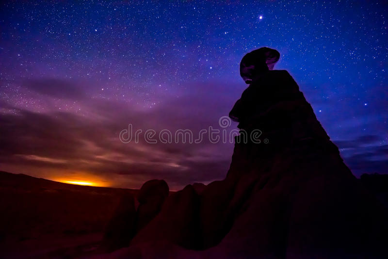 恶鬼谷在晚上 图库摄影