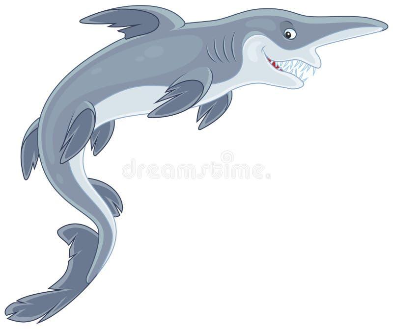 恶鬼鲨鱼 库存例证