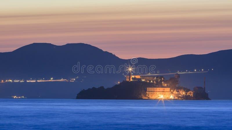 恶魔海岛- Alcatraz在旧金山 免版税库存照片