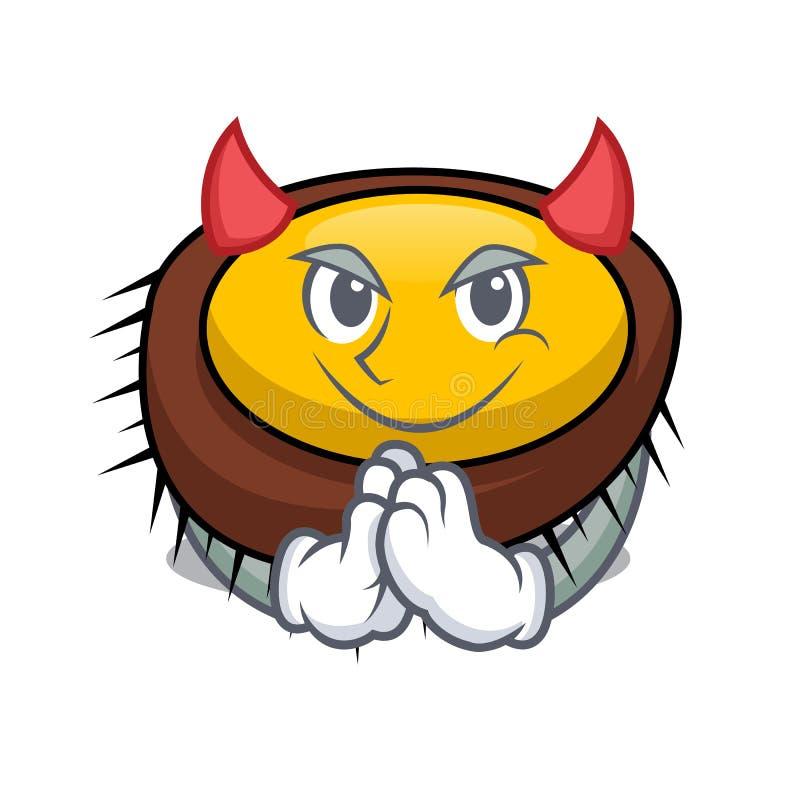 恶魔海胆吉祥人动画片 库存例证