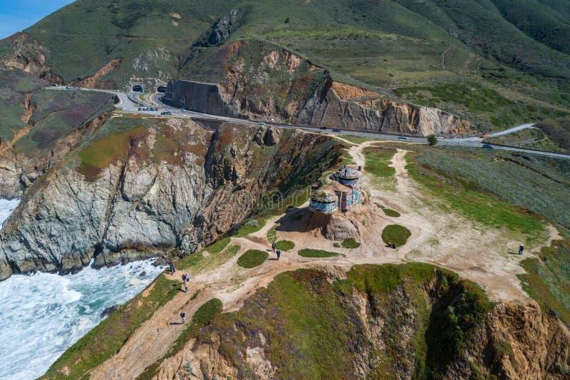 恶魔的幻灯片地堡在加利福尼亚 免版税库存图片