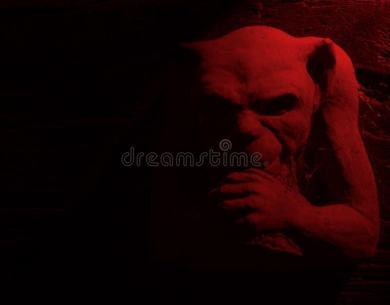 恶魔红色 免版税库存图片