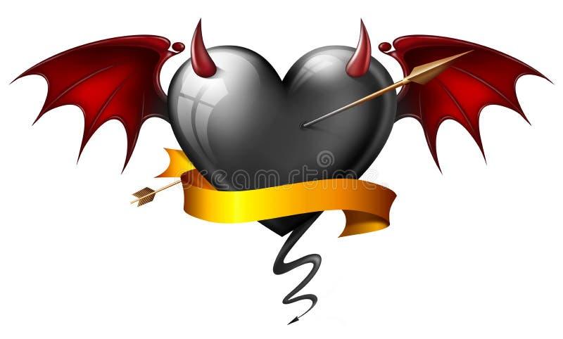 恶魔般心脏 库存例证