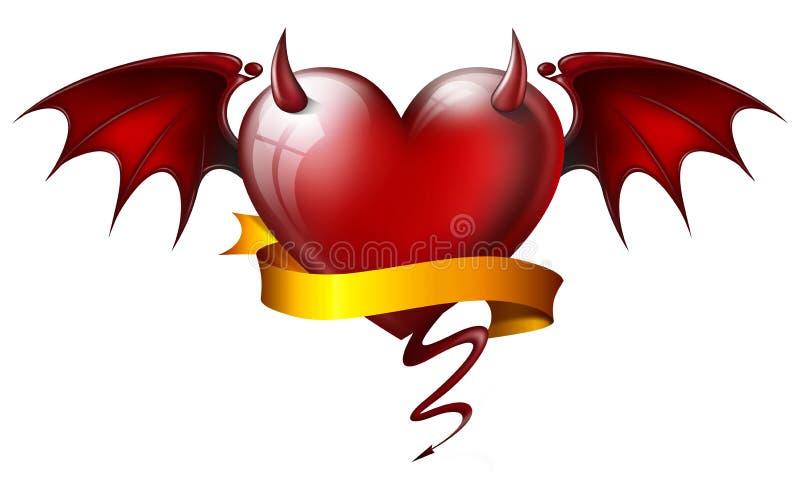 恶魔般心脏 皇族释放例证