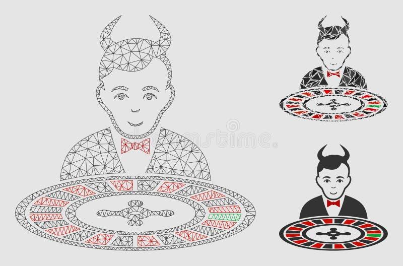 恶魔轮盘赌副主持人传染媒介滤网第2个模型和三角马赛克象 皇族释放例证