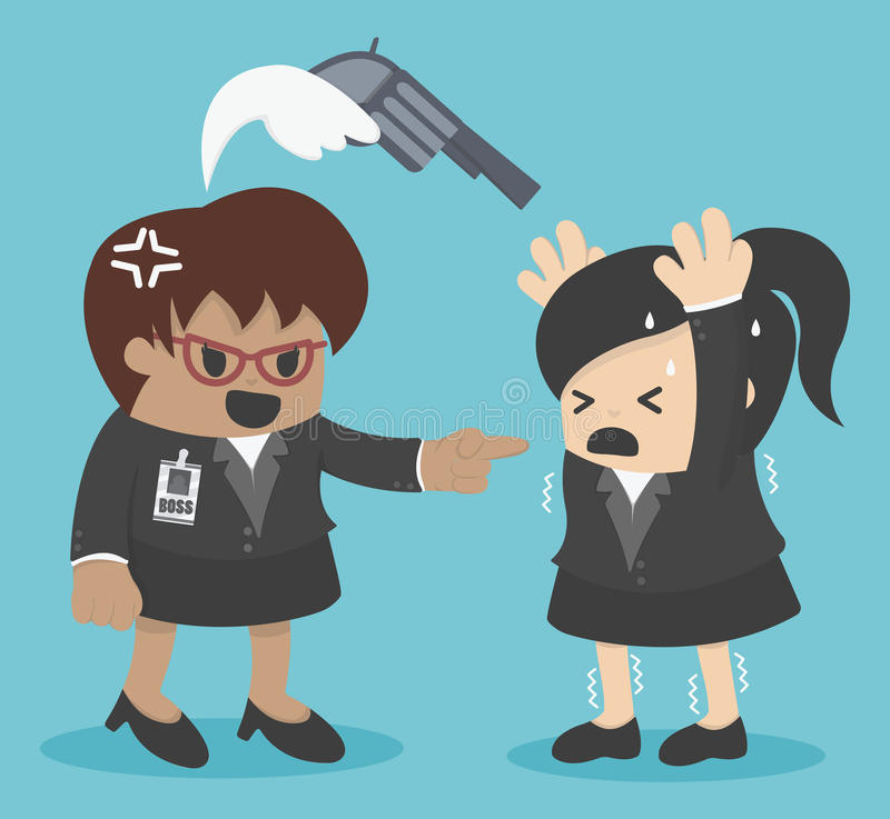 Download 恼怒的上司发现了有罪在错误做上某事 向量例证. 插画 包括有 胁迫, 钻眼工人, 员工, 哀伤, 啼声, 图象 - 62528345