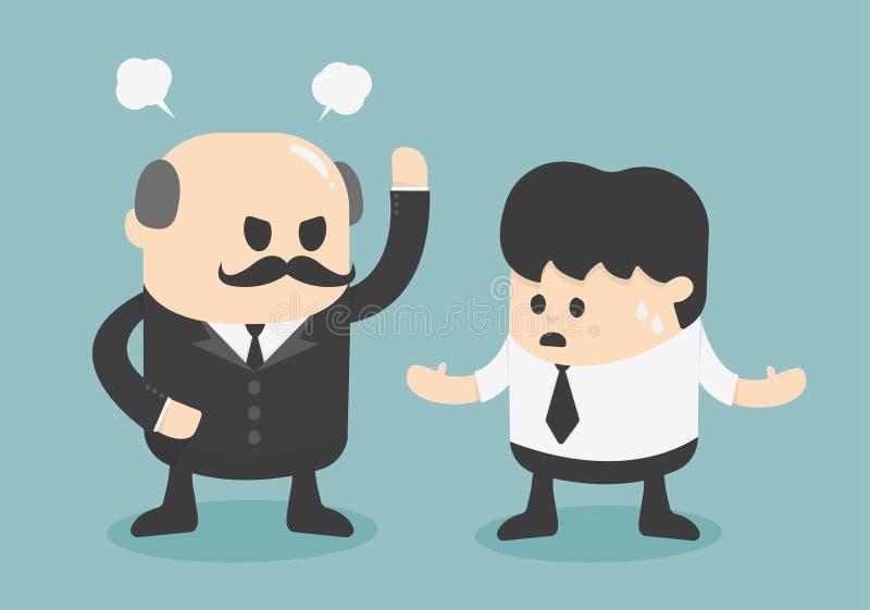 恼怒的上司概念 向量例证