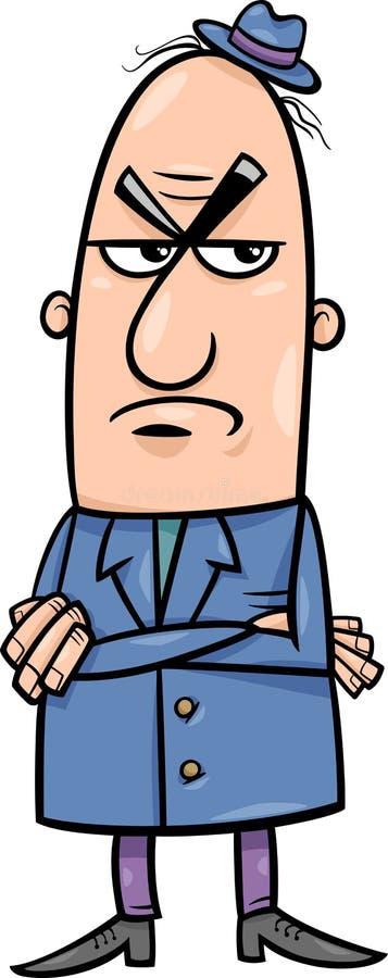 恼怒的人动画片例证 向量例证