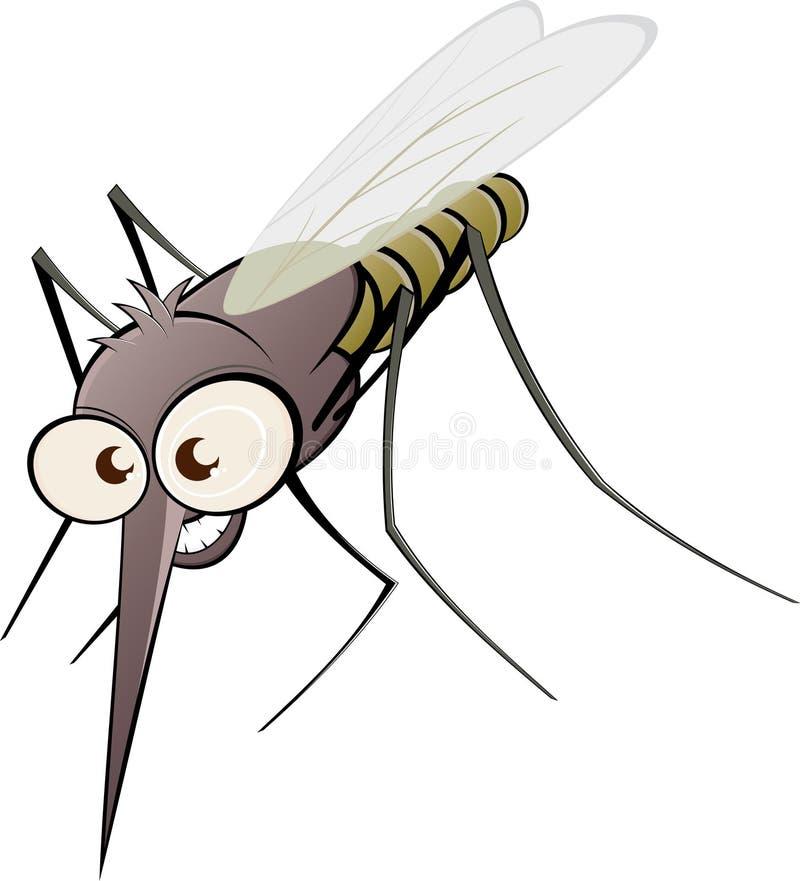 恼怒的动画片蚊子 皇族释放例证