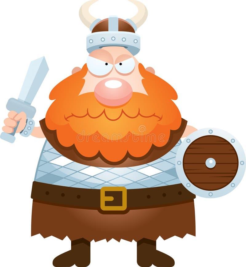 恼怒的动画片北欧海盗 皇族释放例证