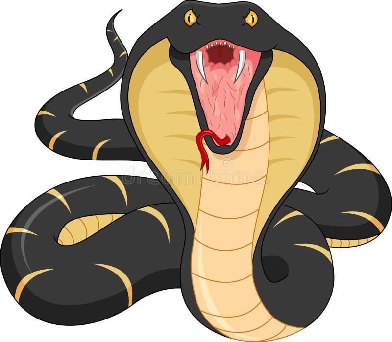 恼怒的动画片蛇 皇族释放例证