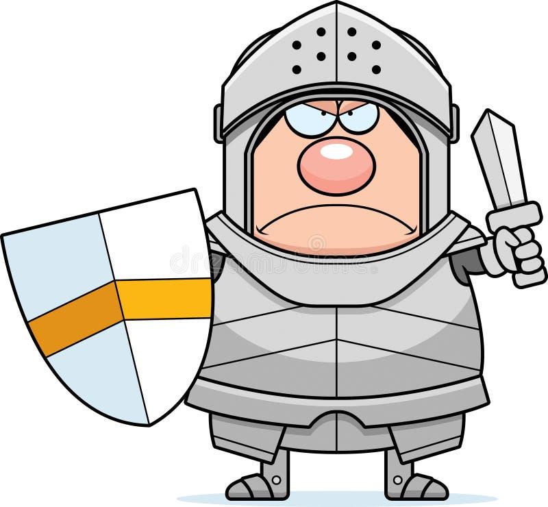 恼怒的动画片骑士 皇族释放例证