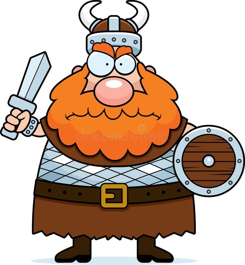 恼怒的北欧海盗 皇族释放例证
