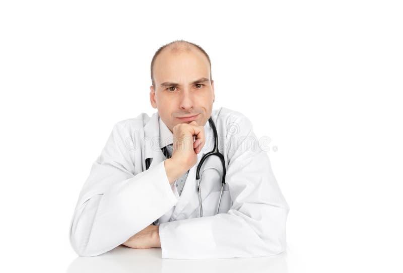 恼怒的医生 库存照片