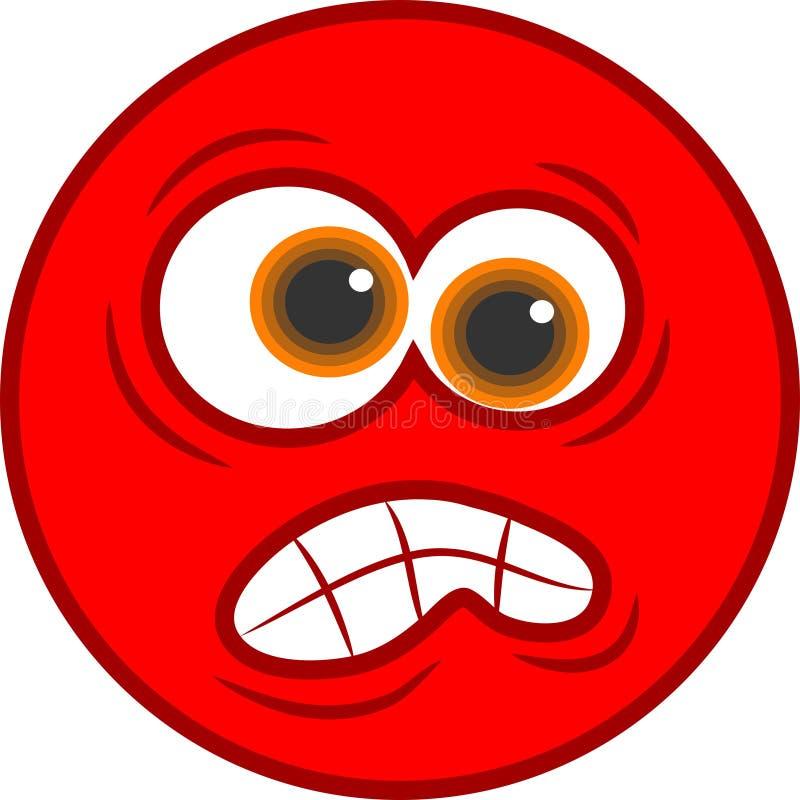 恼怒的图标面带笑容 向量例证