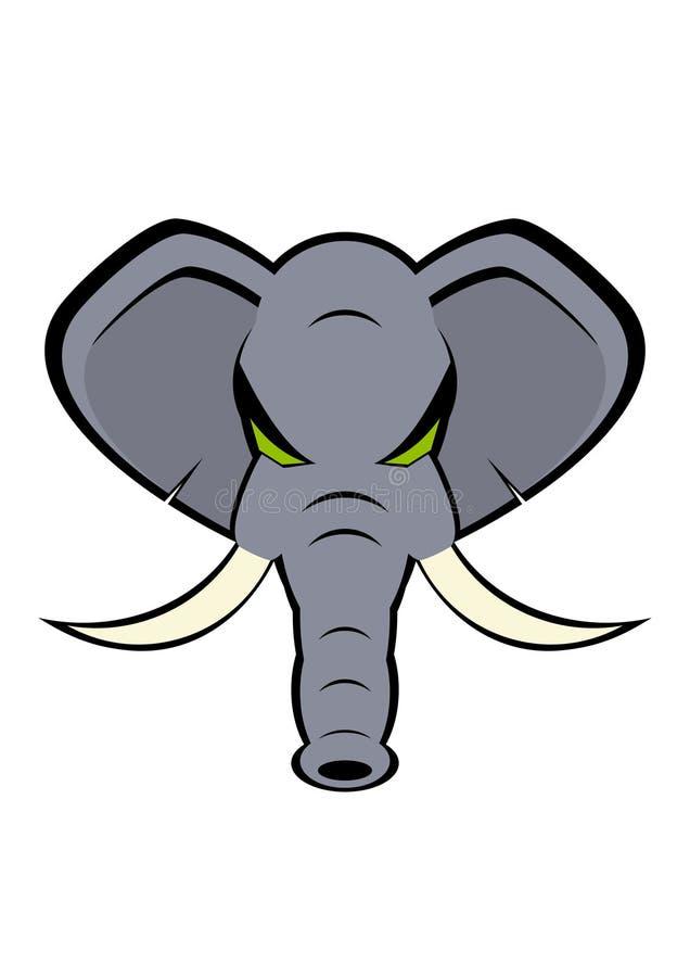 恼怒的大象 向量例证