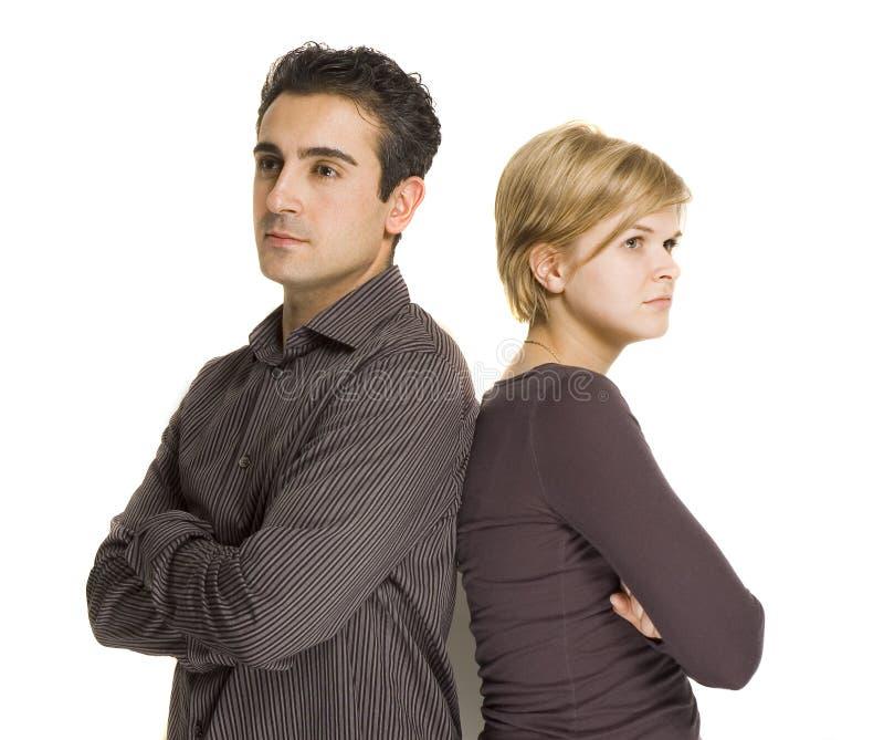恼怒的夫妇 免版税库存图片