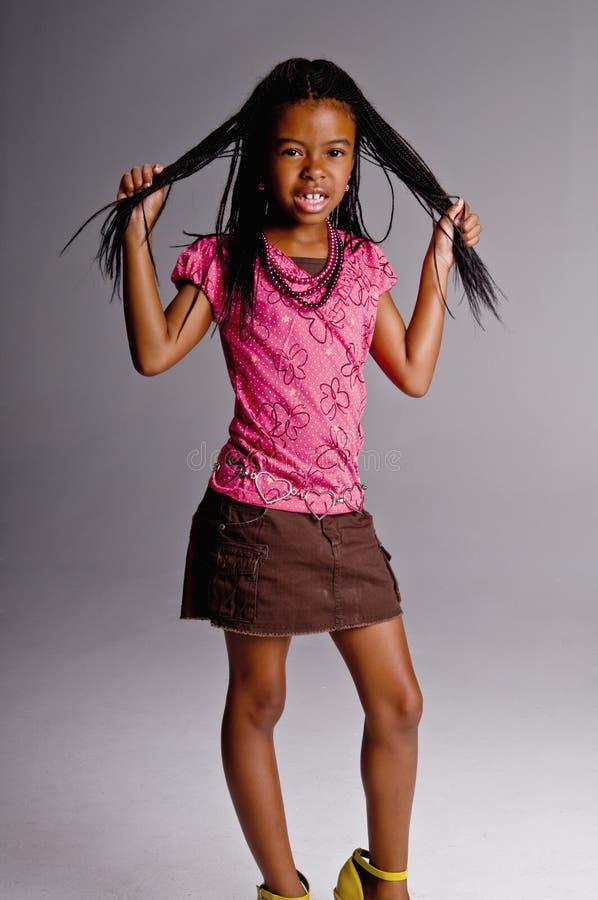 恼怒的女孩年轻人 免版税库存图片