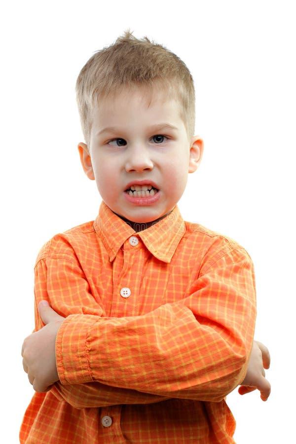 恼怒的孩子 免版税图库摄影