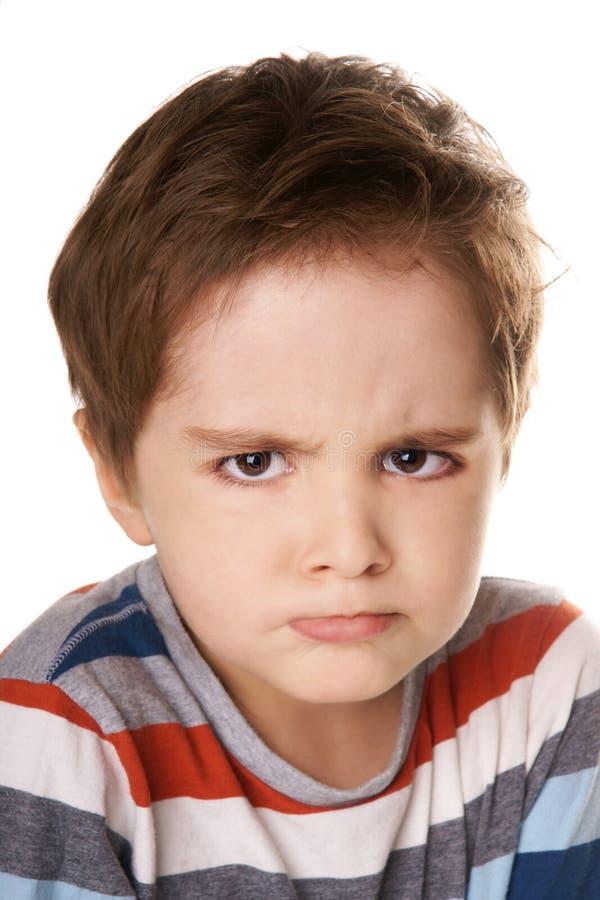 恼怒的孩子 免版税库存照片