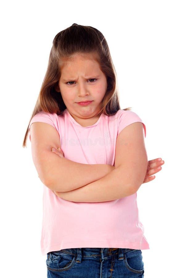 恼怒的小孩子 图库摄影