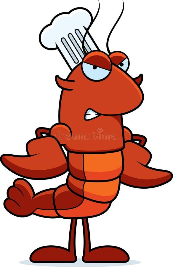 恼怒的小龙虾厨师 库存例证